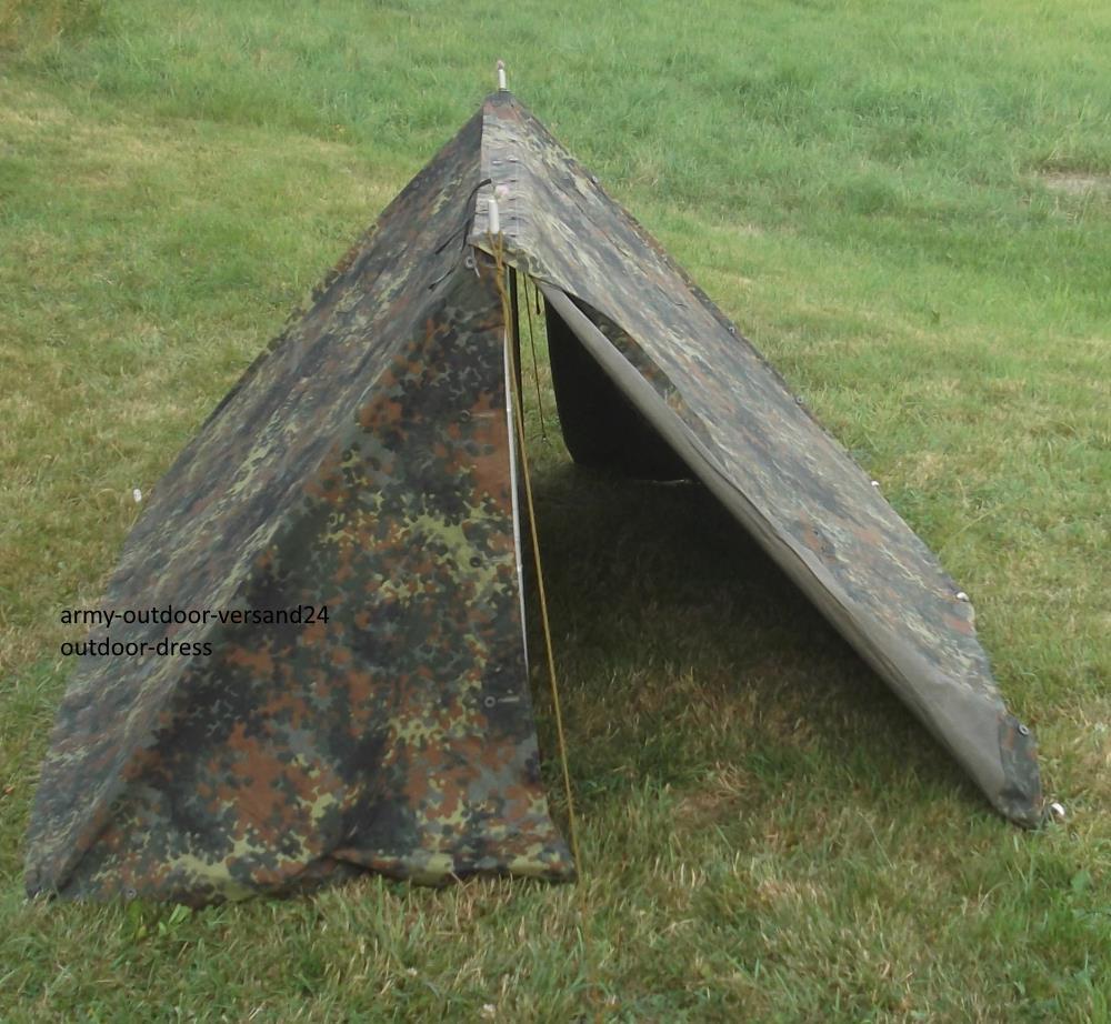 Bw Zelt Gebraucht : Original bundeswehr dackelgarage zweimannzelt flecktarn